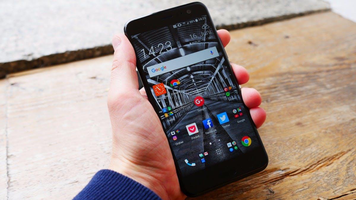 Das HTC U11 von vorne. (Foto: t3n)