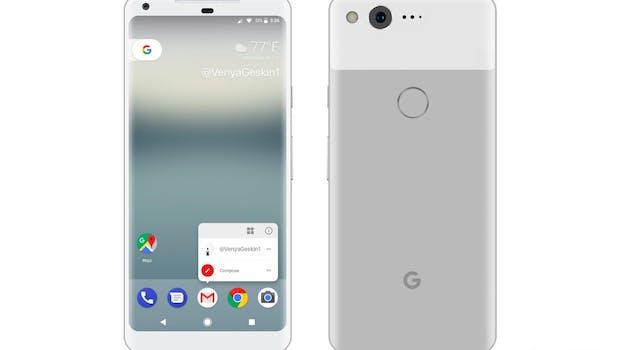 So könnte das Pixel XL 2 (2017) in Weiß aussehen ... (Mockup: Benjamin Geskin)