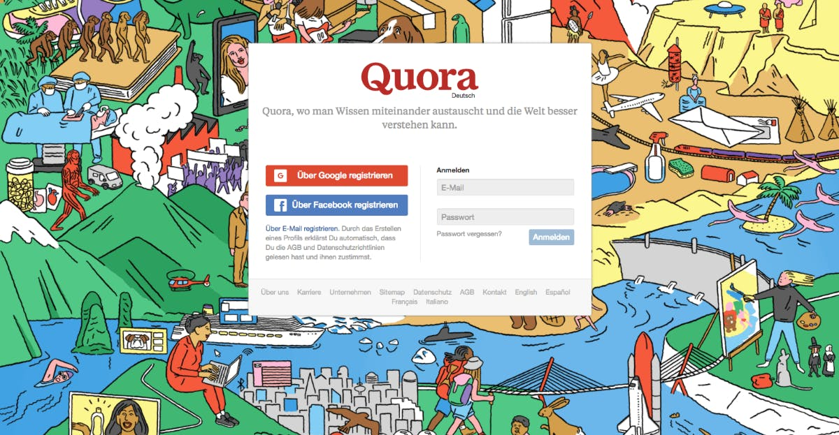 Quora: Wissensplattform startet auf Deutsch