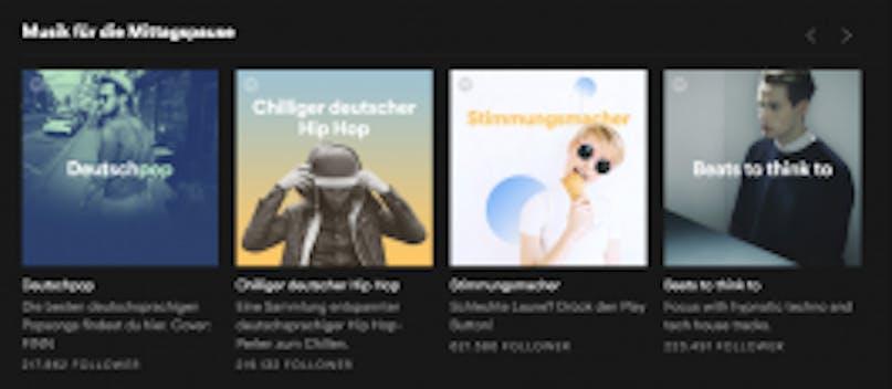 Spotifys Albencover mit Verläufen