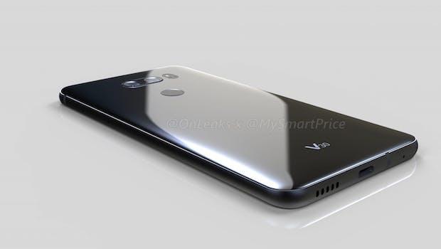 Das LG V30 wird wohl nur einen Mono-Speaker  besitzen. (Bild: Onleaks)
