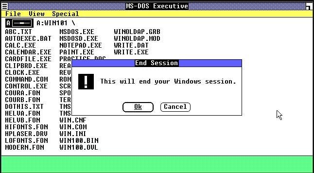 Windows 1.0 erschien im Jahr 1985. (Screenshot: t3n.de)