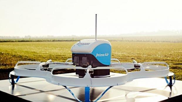 Patentantrag: Warum Amazon mobile Drohnen-Stationen auf Lastwagen, Zügen und Booten plant