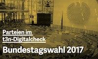 Bundestagswahl 2017: Alle Programme der großen Parteien im t3n-Digitalcheck