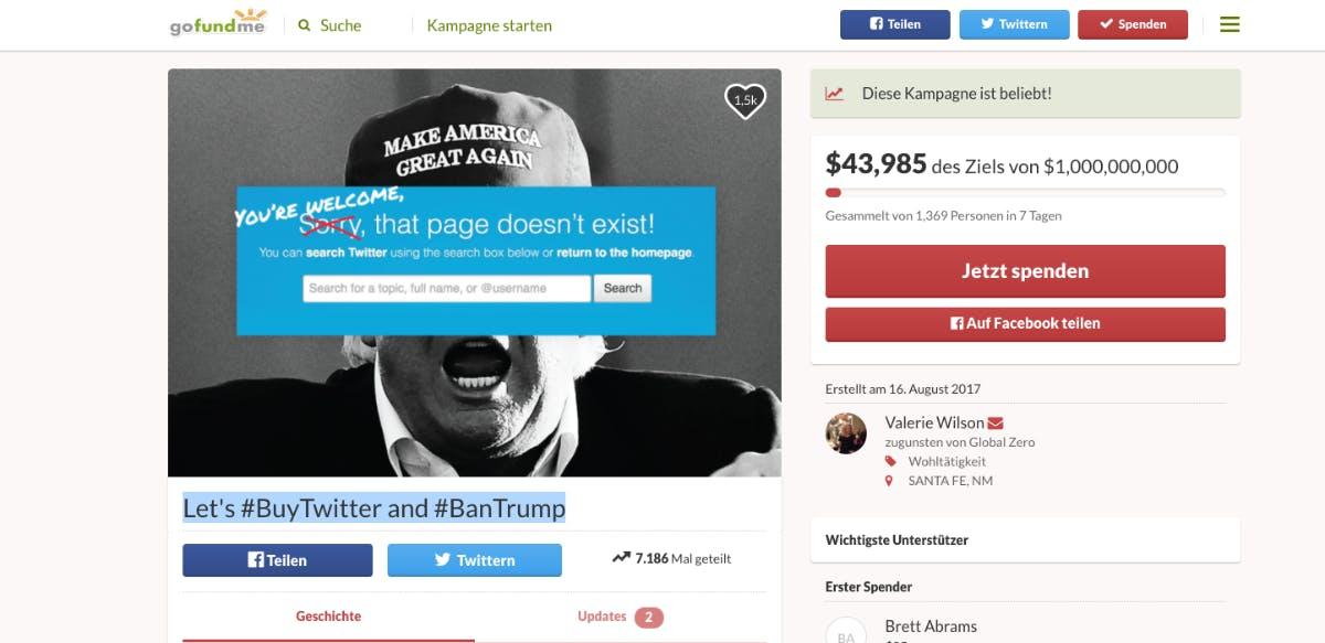 Crowdfunding: Ex-CIA-Agentin will Twitter kaufen und Trump vom Dienst verbannen