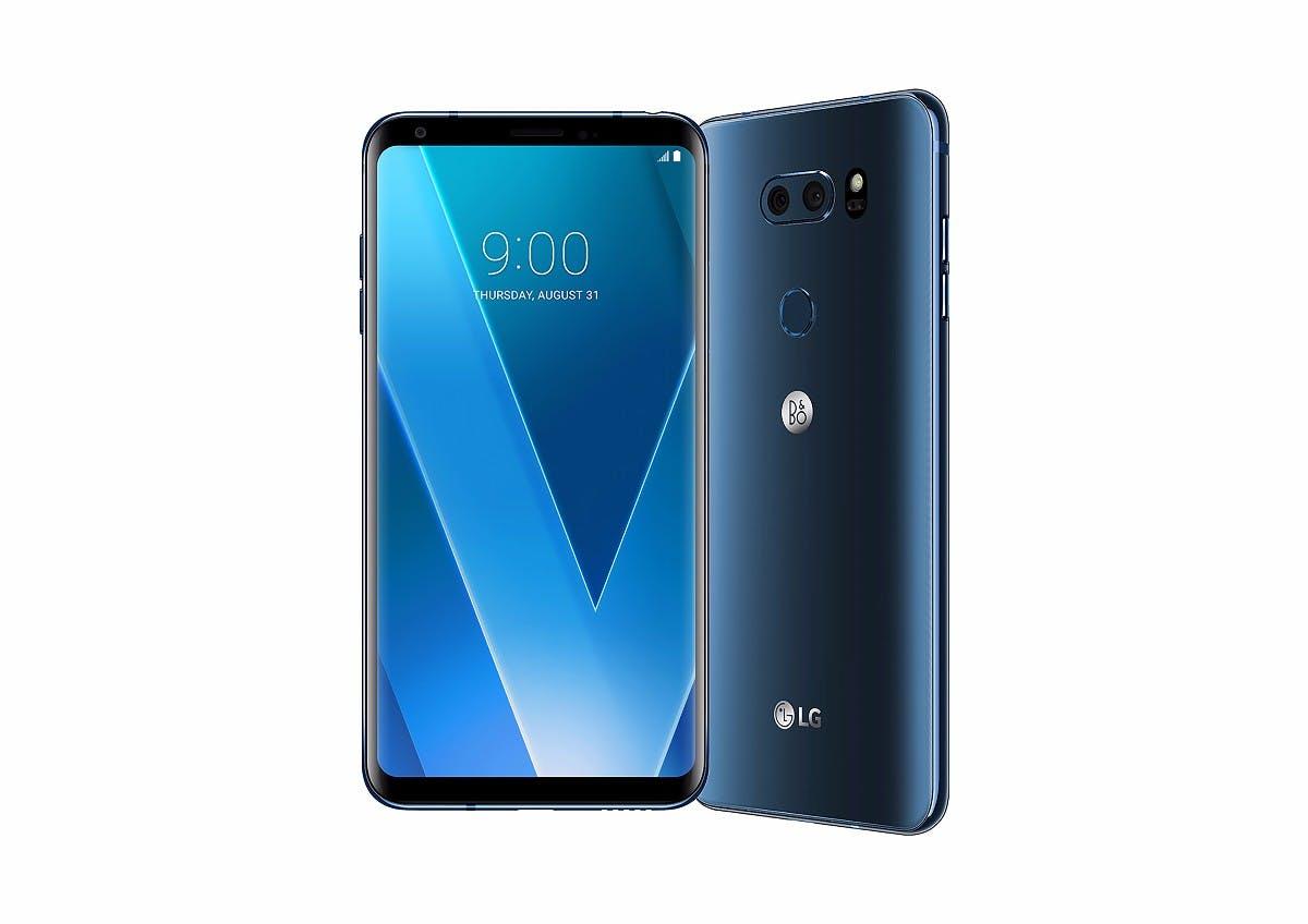 Das LG V30 in Morrocan Blue. (Bild: LG)