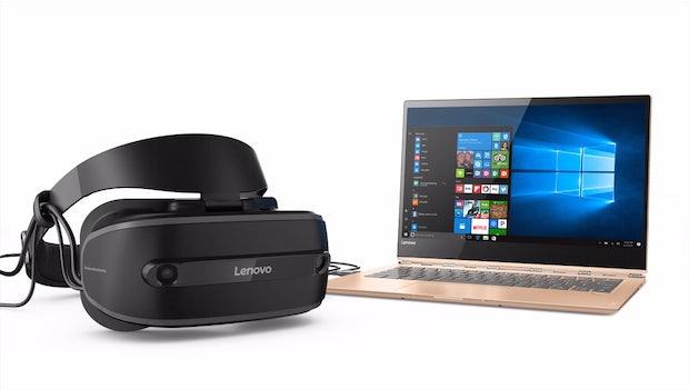 Lenovo liefert mit dem Explorer sein erstes Mixed-Reality-Headset. (Bild: Lenovo)