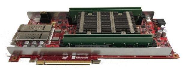 So soll Microsofts Board aussehen, das unter der Haube auf den Stratix 10 von Intel setzt. (Bild: Microsoft)