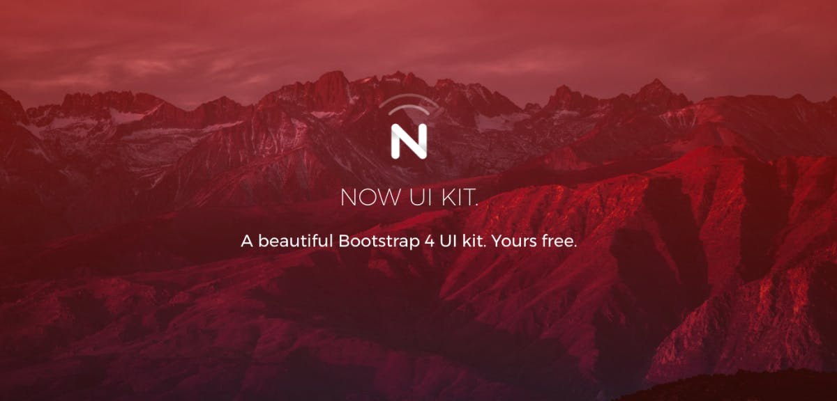 Now UI: Kostenloses Bootstrap-4-Kit für Designer