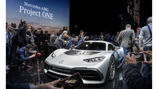 Showcar Mercedes-AMG Project ONE, zweisitziger Supersportwagen-mit modernster und effizientester Formel 1-Hybrid-Technologie. (Foto: Daimler)