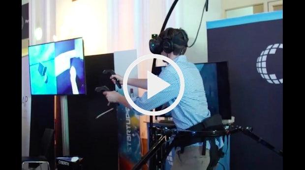 Voller Körpereinsatz: Cyberith bringt Virtual Reality auf die nächste Stufe