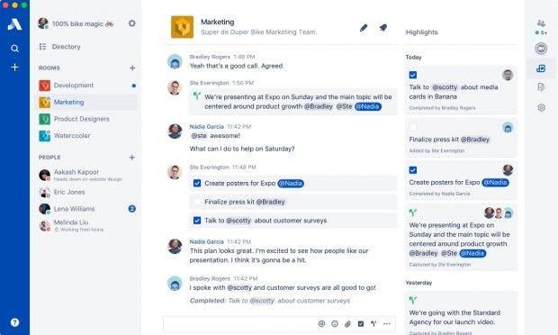 So sehen Chats in Stride aus. (Bild: Atlassian)