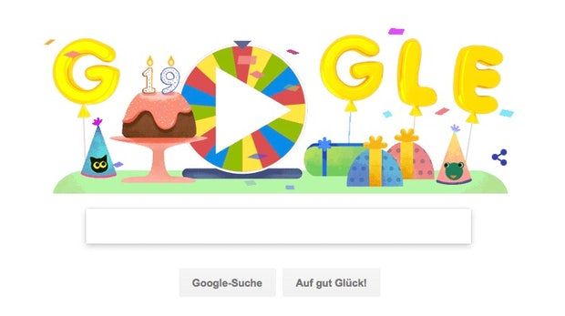 Pac-Man, Snake und mehr: Google feiert 19. Geburtstag mit 19 interaktiven Doodles