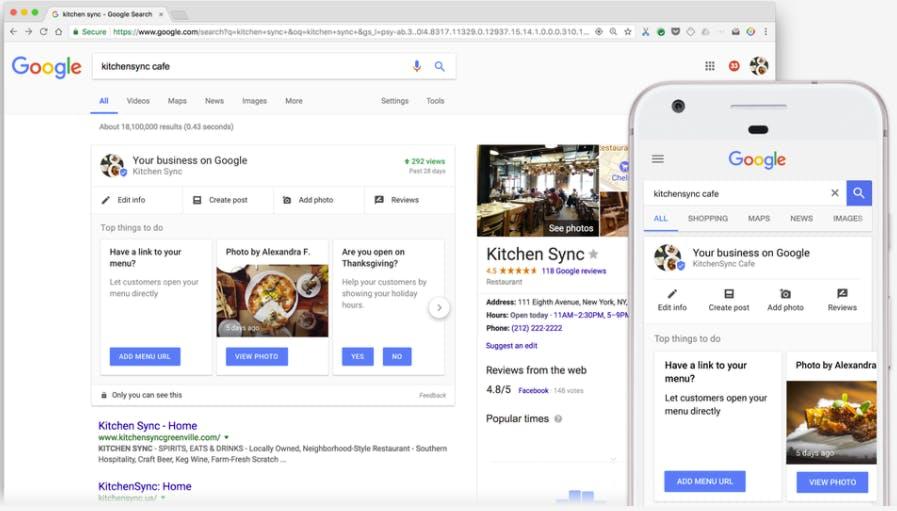 Google My Business: Einträge lassen sich jetzt direkt in der Suche editieren