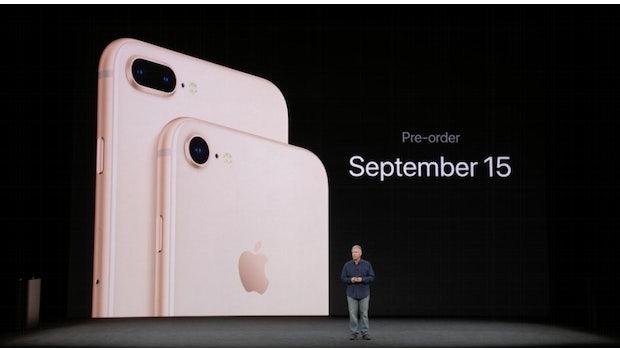iPhone 8 und 8 Plus. (Screenshot: t3n.de)