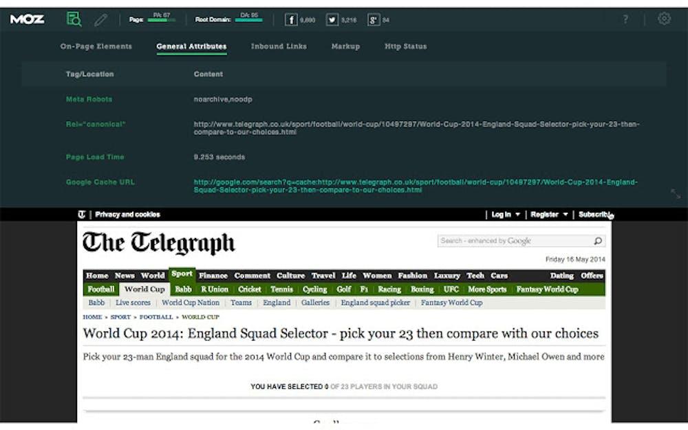 Chrome-Extension Mozbar. (Bild: Moz)