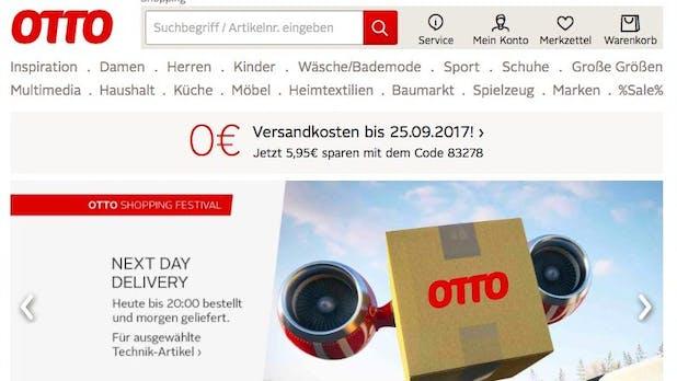 Otto liefert Standardbestellungen schneller als Amazon