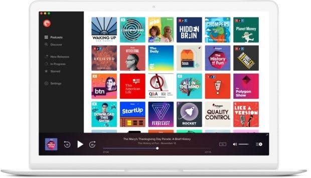 Pocket Casts bietet auch einen Web-Player an. Eure Inhalte werden geräteübergreifend synchronisiert. (Bild: Shifty Jelly)