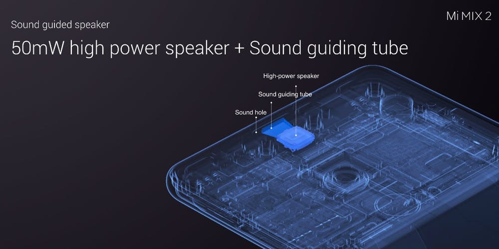 Das Xiaomi Mi Mix 2 hatte als eines der ersten Smartphone eine piezoelektrische Klangübertragung verbaut. (Bild: Xiaomi)