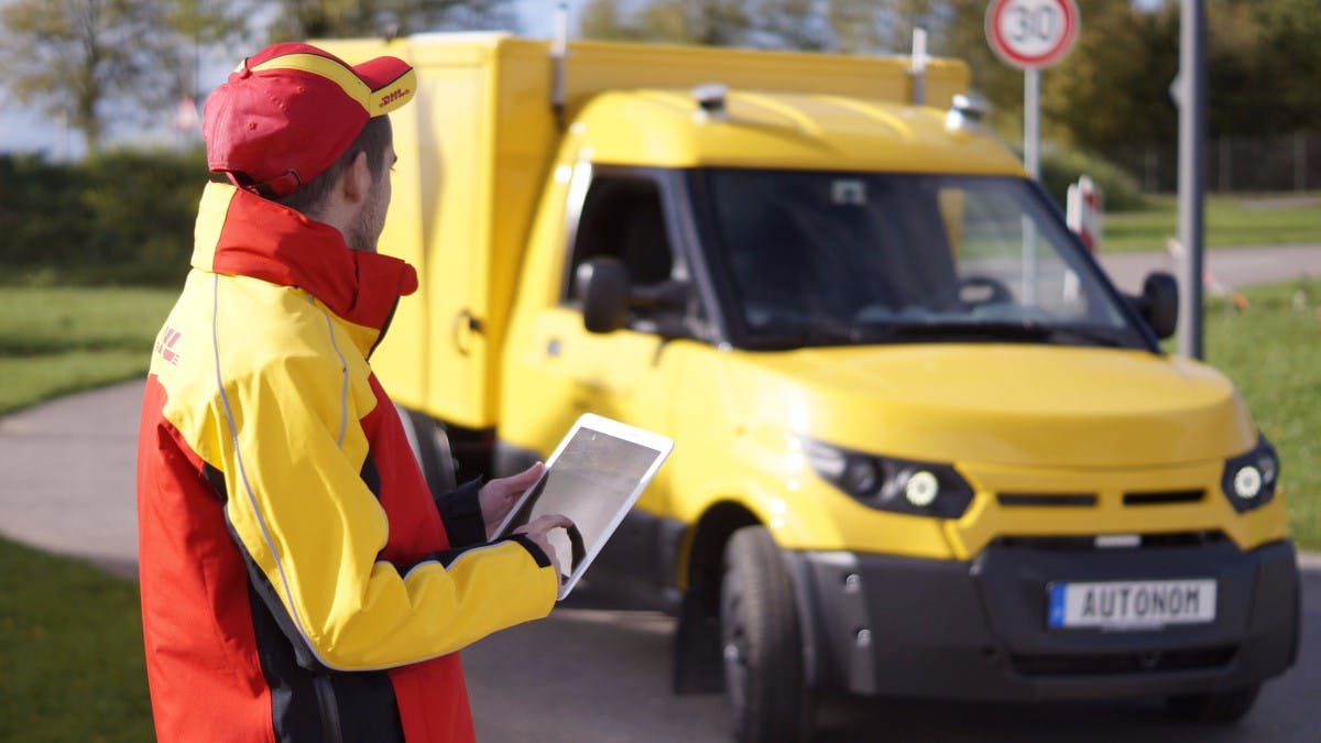 DHL will ab 2018 selbstfahrende Lieferwagen auf die Straße bringen