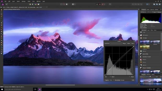 Photoshop-Alternative: Platzhirsch Affinity Photo für Windows, macOS und iPad. (Screenshot: affinity.com)