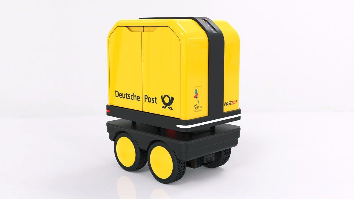 Zustellroboter soll Postboten auf Schritt und Tritt folgen