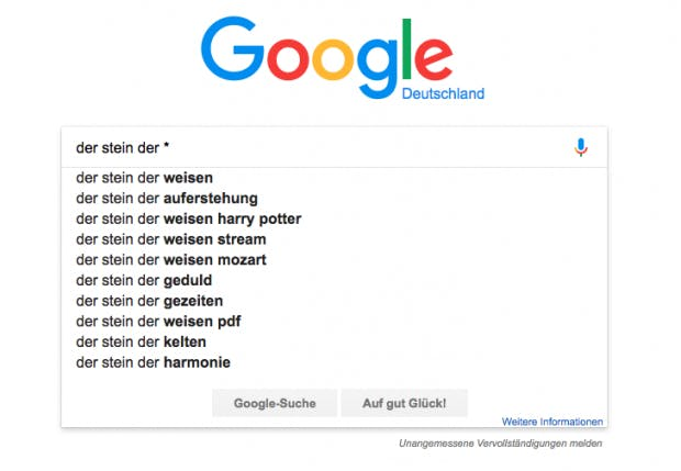 Milliardster Google Suche