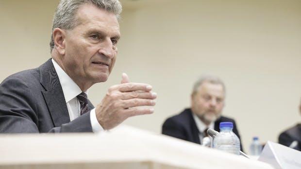 Breitbandausbau: Oettinger bedauert Privatisierung der Telekom