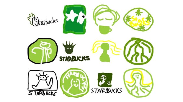150 Personen sollten Logos aus der Erinnerung malen – das ist das Ergebnis