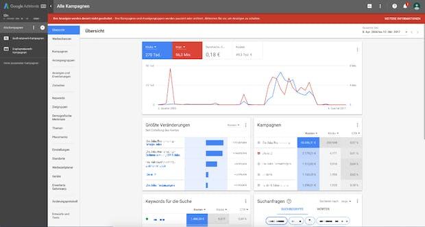 Google rollt neues Adwords-Interface für alle Advertiser aus