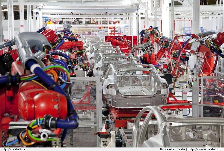 Dieses Tesla-Video zeigt, wie die vollautomatische Model-3-Produktion funktioniert