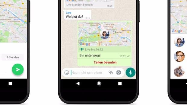Whatsapp: Ihr könnt euren Standort jetzt mit Einzelpersonen oder Gruppen in Echtzeit teilen