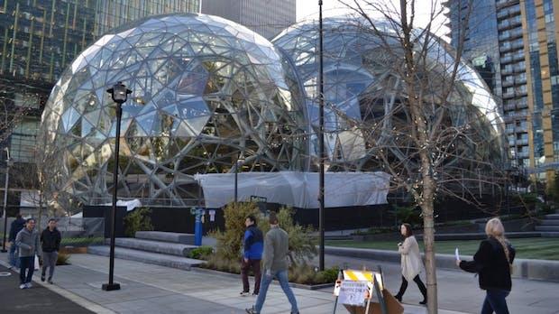 Amazons futuristisches Hauptquartier steht vor der Vollendung