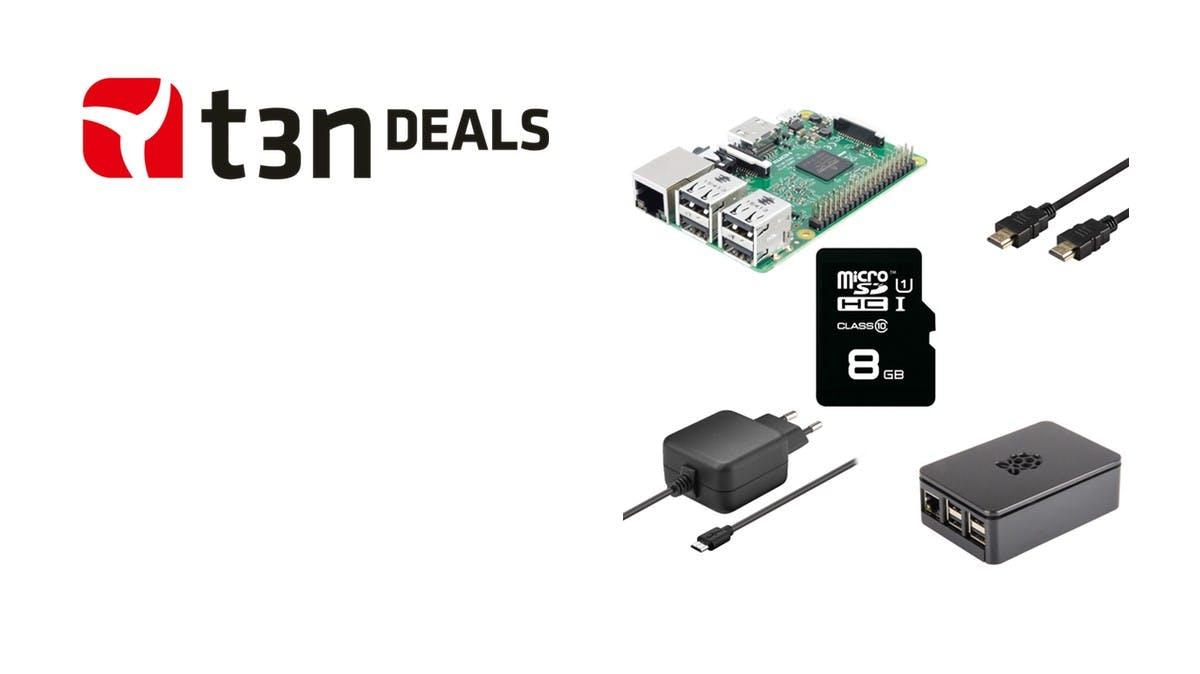 t3n-Deal des Tages: Raspberry-Pi-3-Multimedia-Bundle heute für 55 Euro!