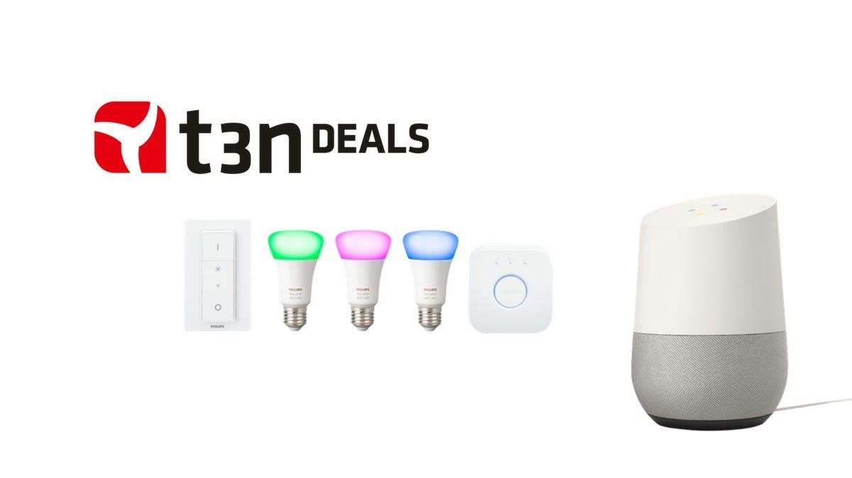 t3n-Deal des Tages: Philips-Hue-Kit und Google Home zusammen für 199 Euro!