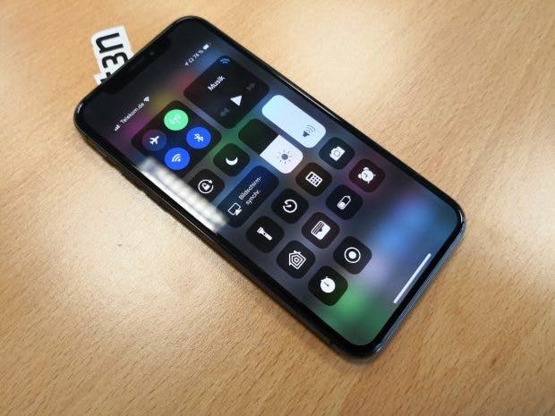 Das Kontrollzentrum auf dem iPhone X. (Foto: t3n)