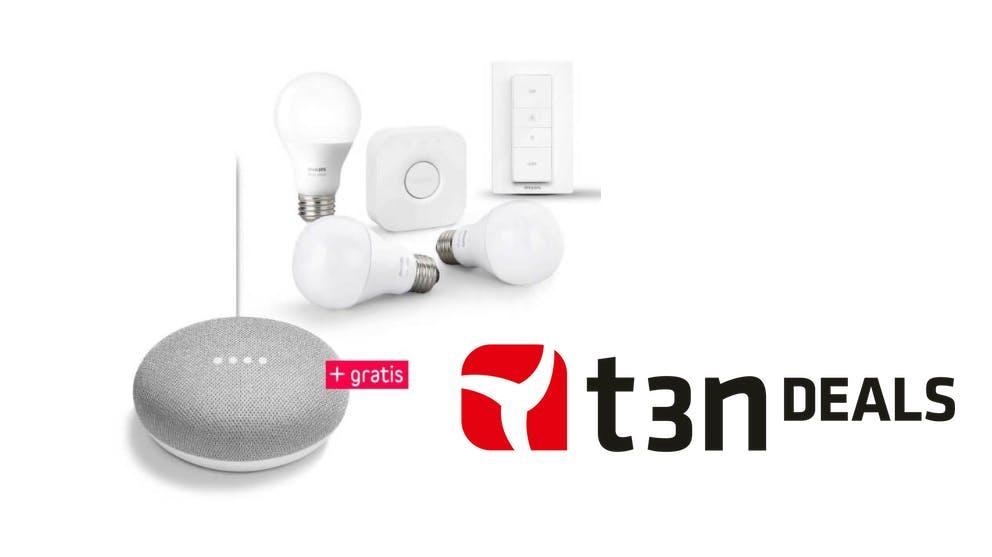 t3n-Deal des Tages: Philips-Hue-Starter-Kit und Google Home Mini für knapp 99 Euro!
