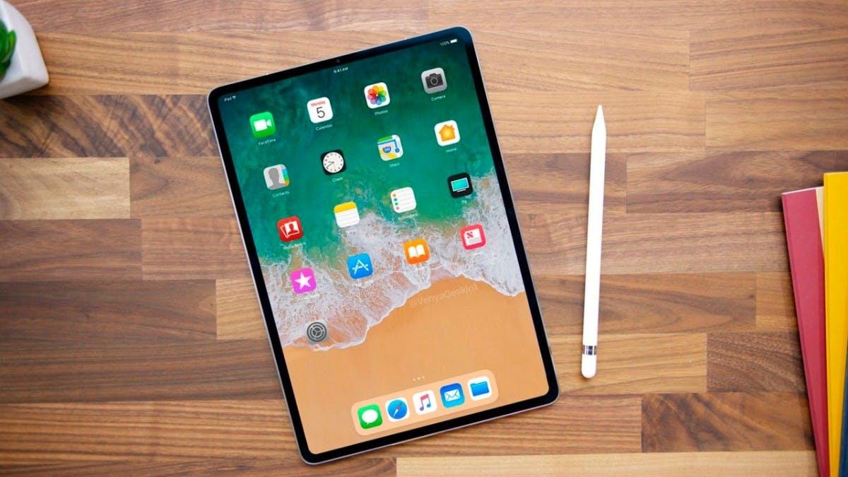 "So könnte das iPad Pro (2018) aussehen.  (Mockup: <a href=""https://twitter.com/VenyaGeskin1/status/928359669525024769"">Benjamin Geskin</a>)"