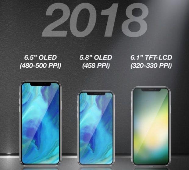 Konsequent: Die 2018er-iPhone-Modelle sollen allesamt nahezu rahmenlos sein. (Bild: Macrumors)