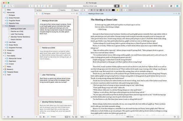 Scrivener 3 kommt mit einem neuen, schicken User-Interface. (Screenshot: Literature & Latte)