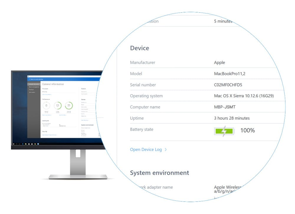 Das Dashboard zeigt unter Teamviewer 13 jetzt mehr Systeminformationen an. (Grafik: Teamviewer)