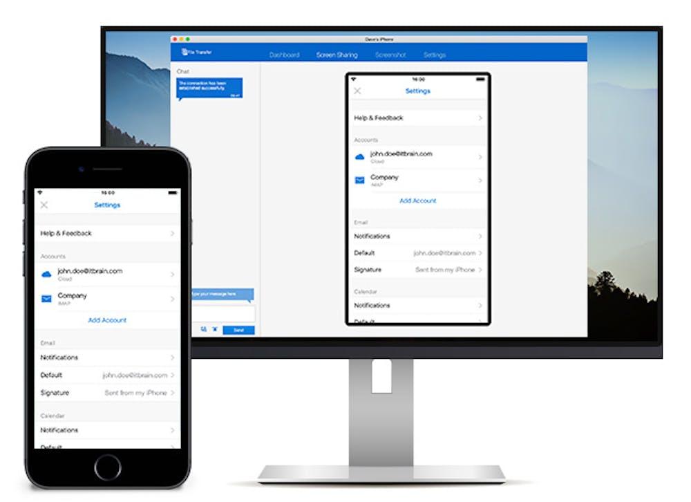 Mit Version 13 von Teamviewer kann der iOS-11-Bildschirm live an die Desktop-Software übertragen werden. (Grafik: Teamviewer)