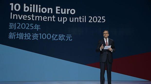 Volkswagen steckt mehr als 10 Milliarden Euro in Elektroautos für China