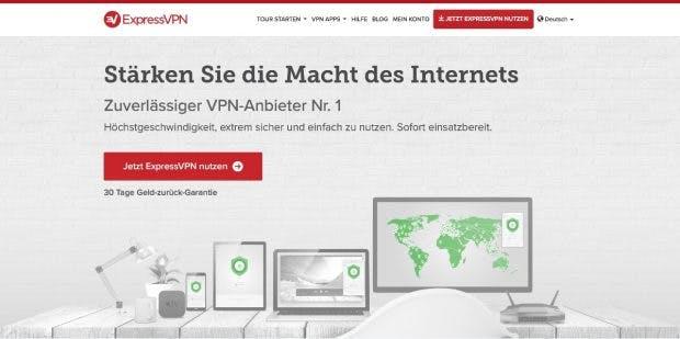 Neben den Apps für die üblichen Plattformen gibt es von ExpressVPN auch eine Browser-Erweiterung. (Screenshot: expressvpn.com)