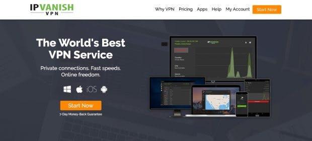 IPVanish ist mit 850 Servern in mehr als 60 Ländern einer der großen VPN-Anbieter auf dem Markt. (Screenshot: ipvanish.com)