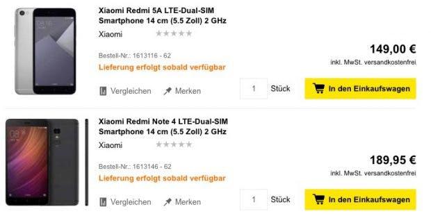 xiaomi in deutschland erste deutsche h ndler verkaufen smartphones direkt t3n. Black Bedroom Furniture Sets. Home Design Ideas