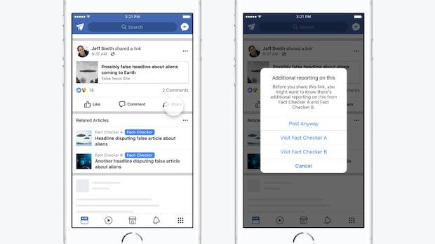 Facebook gegen Fake News: Faktencheck statt Warnsymbole