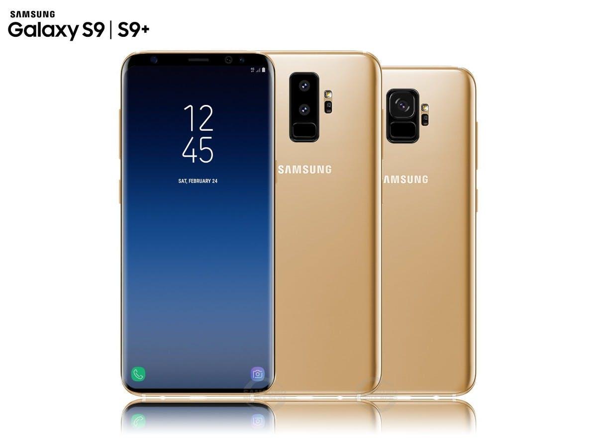 Samsung Galaxy S9 und S9 Plus in Gold. (Bild: Samsungmobile.News)