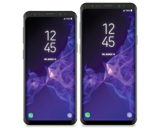 Samsung Galaxy S9 neben dem Samsung Galaxy S9 Plus. (Bild: Evleaks)