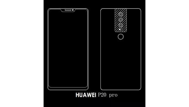 Das Huawei P20 soll in drei Varianten erscheinen: Als P20, P20 Peo und P20 Plus. (Bild: via PhoneArena)